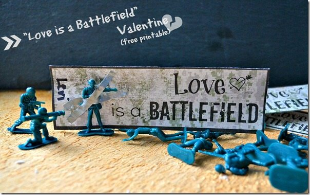 """Love is a Battlefield"" manly Valentine: by NellieBellie"