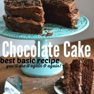 The best homemade chocolate cake recipe! And easy, basic recipe!