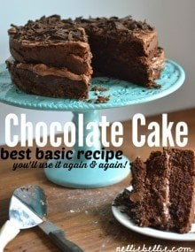The best homemade chocolate cake recipe! And easy, basic recipe!