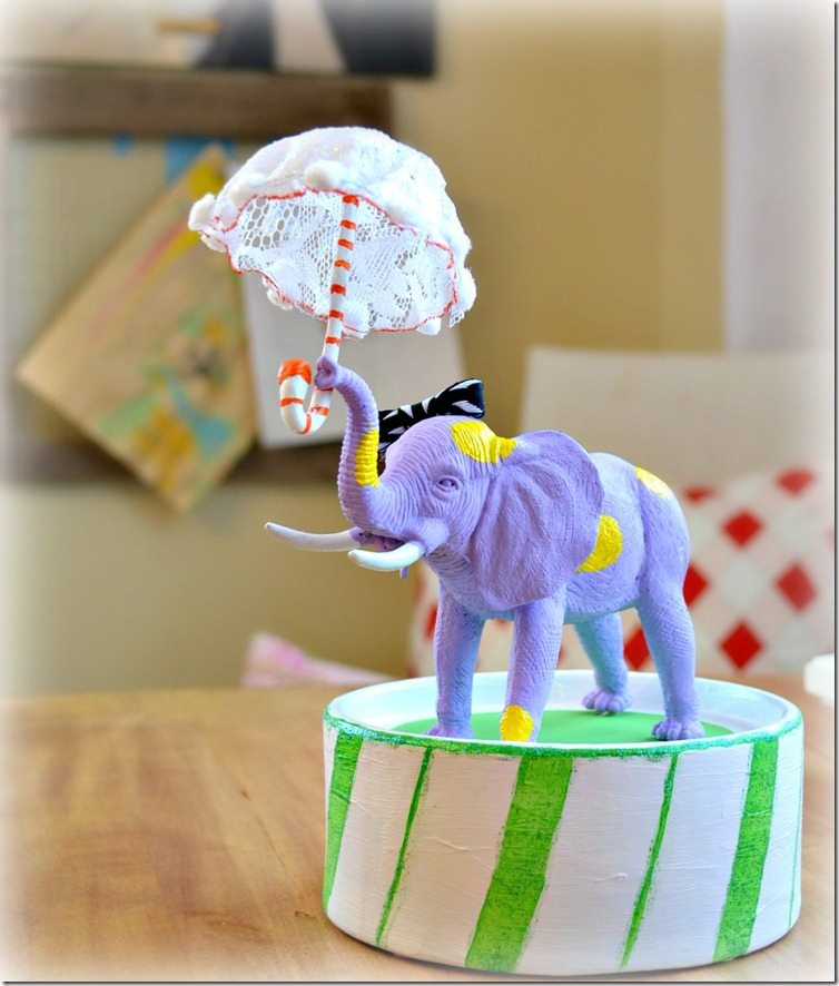 Circus Elephant. A tutorial for this craft by NellieBellie #craft #circuselephant #elephant