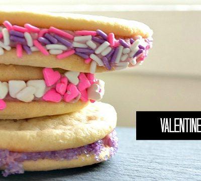 valentines day cookie sandwiches