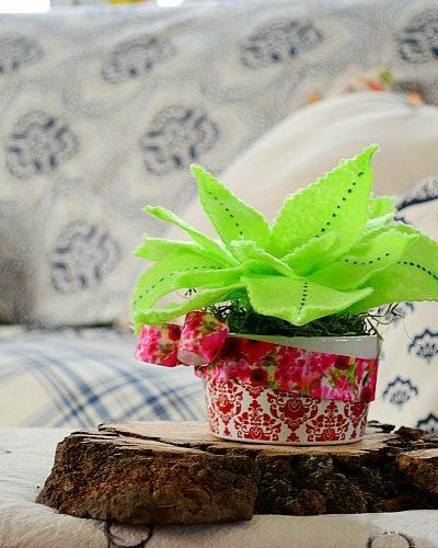 how to make a felt plant
