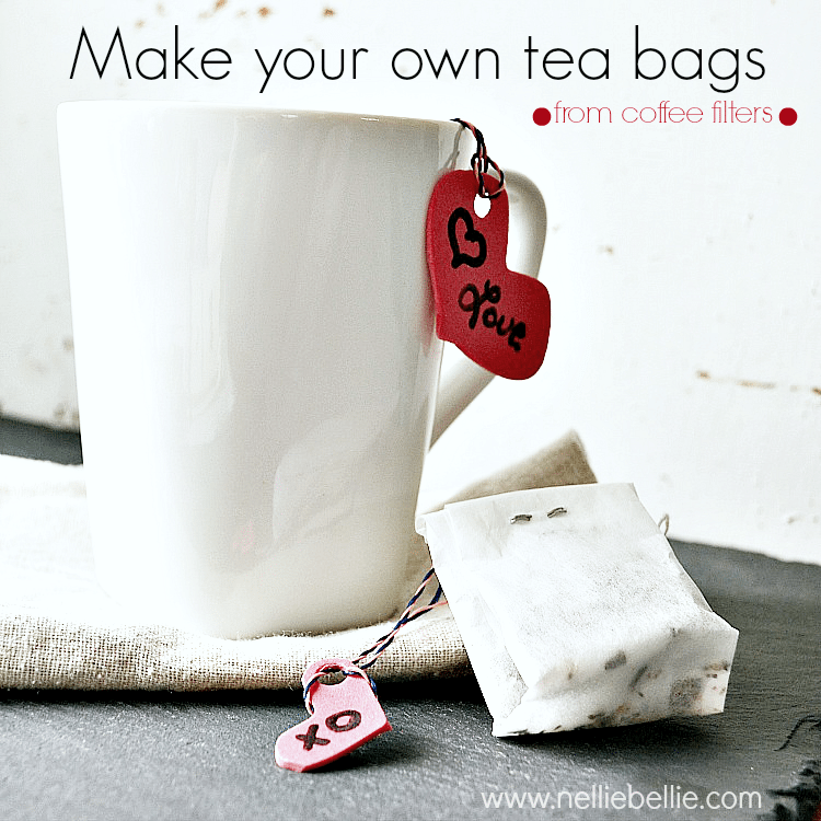 diy teabags from coffee filters: what a great idea to save money! and easy to do!