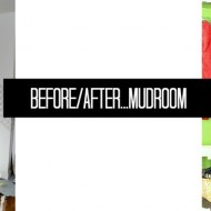 Before/After…mudroom.