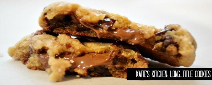 Katie's Kitchen: Salted Nutella Chocolate-Chip Cookies