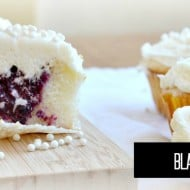 Homemade Blackberry Cream Cupcakes | recipe