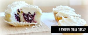Blackberry cream cupcake recipe from NellieBellie; these are absolutely fabulous and light and fluffy!