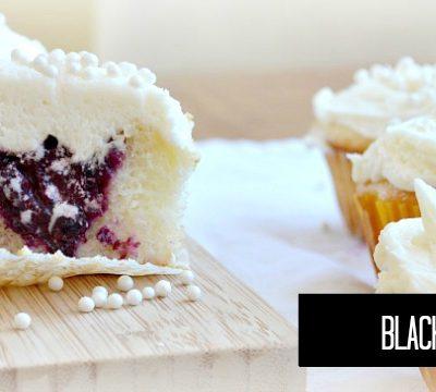 Blackberry Cream Cupcakes