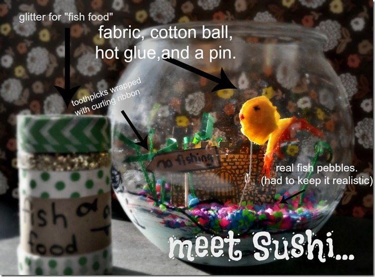 sushi the fake-a-fish. by NellieBellie