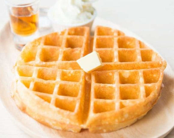 These are the best gluten-free waffles! Crisp on the outside and soft on the inside...perfect.