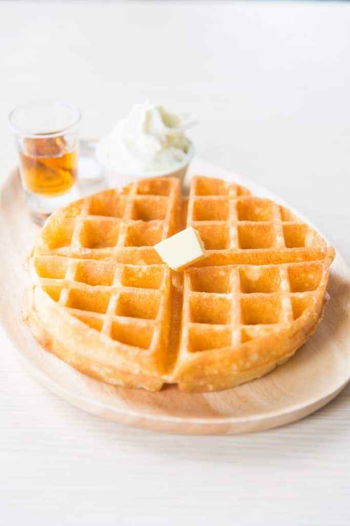 This is the best gluten free waffles recipe! Crisp on the outside and soft on the inside...perfect for Sunday breakfast. A NellieBellie recipe.