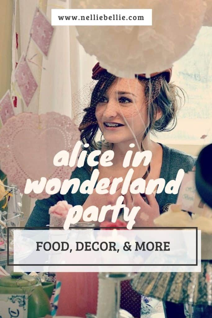Alice in Wonderland party. A great party idea for birthdays and more! Ideas for party food, party decor, and more!