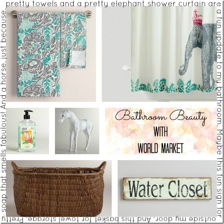 My Crushes Get Together. Bathroom Beauty With World Market