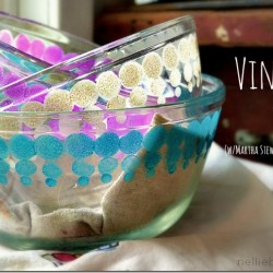 Simple steps to DIY your own vintage pyrex from nelliebellie.com