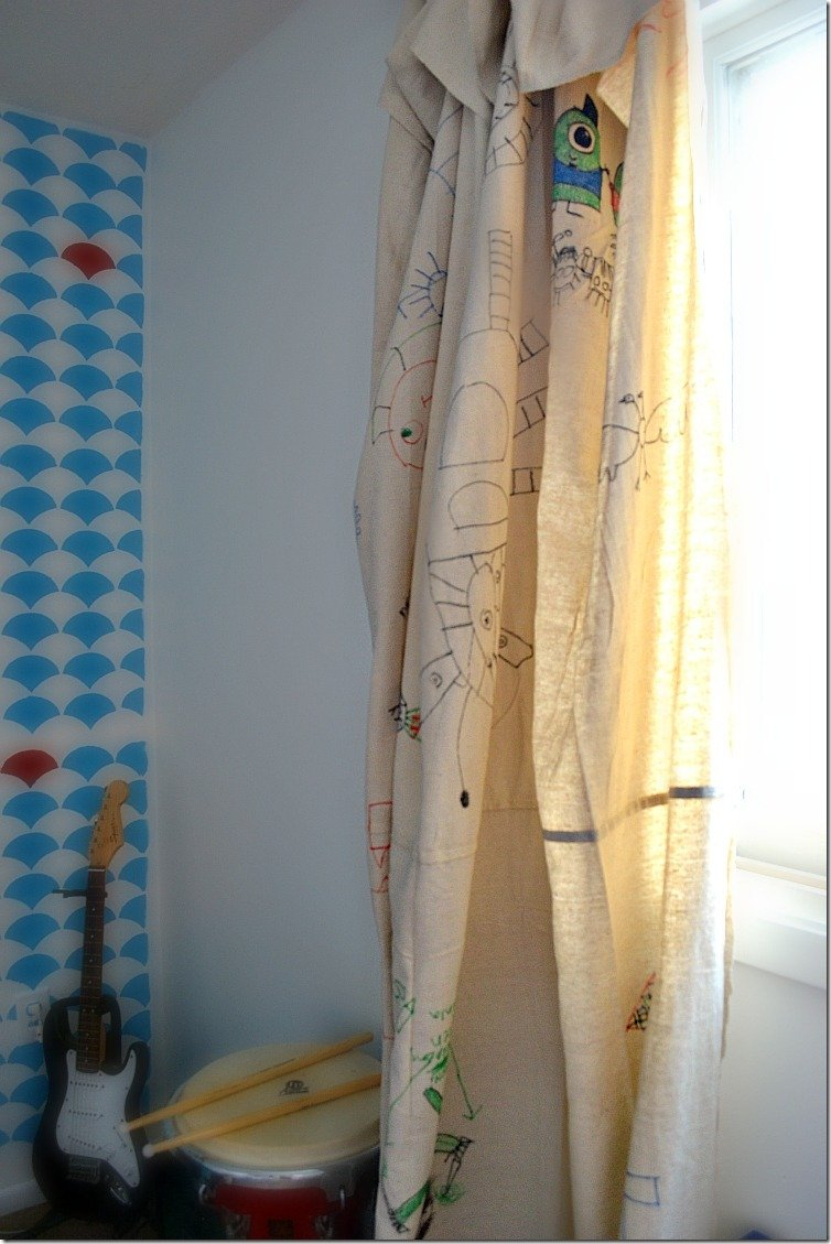 Personalized No Sew Drop Cloth Curtains