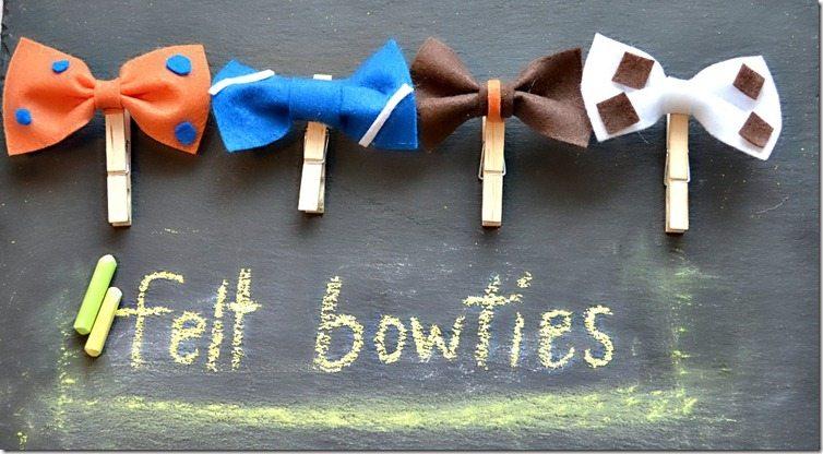 felt bowties
