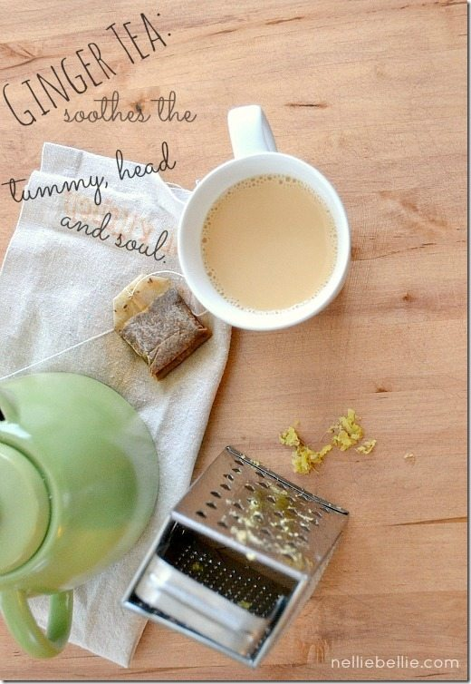 An easy to make ginger tea recipe from nelliebellie.com. Great for headaches!