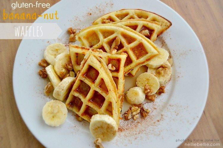 gluten free banana nut waffles