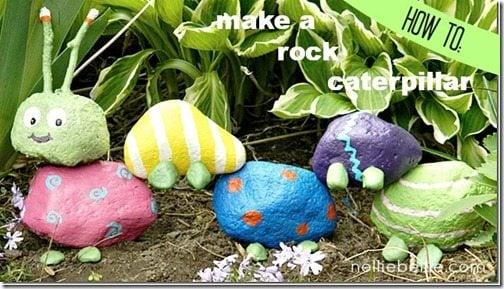 how to make a rock caterpillar