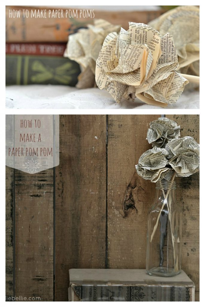 how to make paper pompoms. what a great craft!