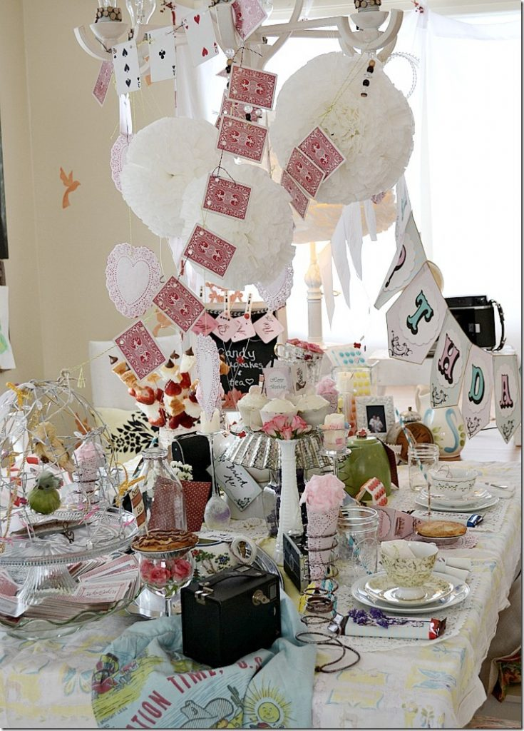 Alice In Wonderland Decoration Alice In Wonderland Party Mad Hatters Tea Party