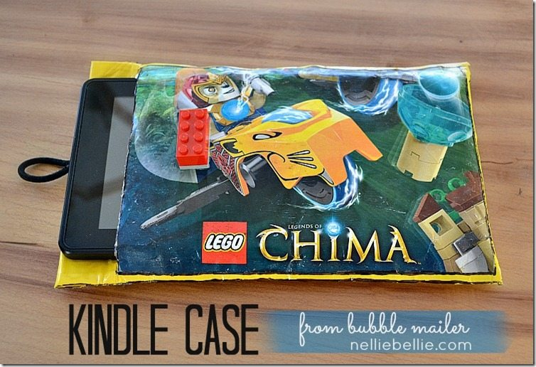 Turn a bubble mailer into a Kindle case in less then 30 minutes! Easy and great for a boy!