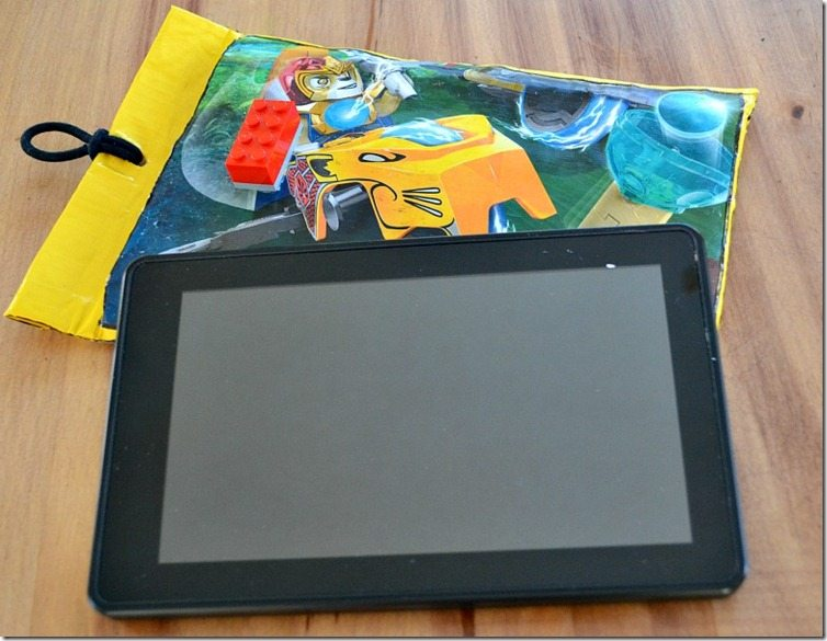 Turn a bubble mailer into a Kindle case! Easy and great for a boy!