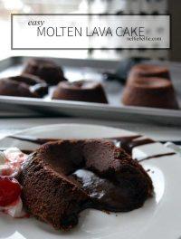 easy Molten Lava Cake recipe