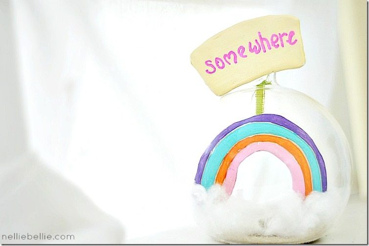 somewhere over the rainbow snowglobe