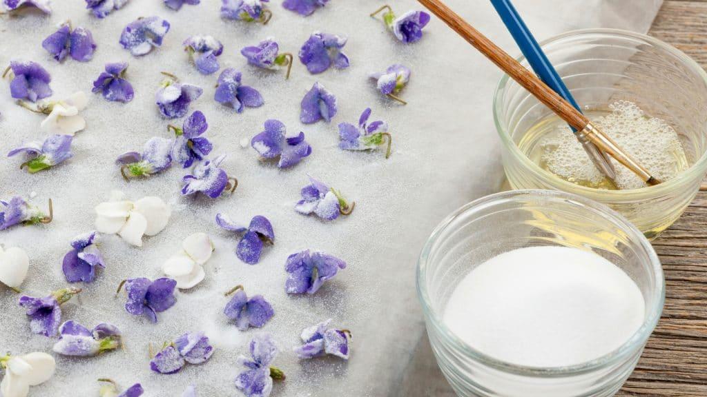 edibled sugar petals