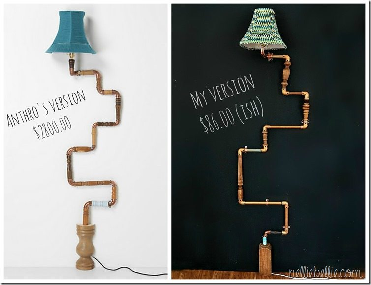 anthro-inspired diy industrial pipe lamp