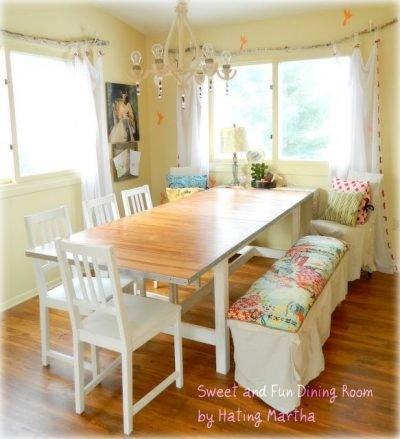 $86.66 Dining Room makeover!