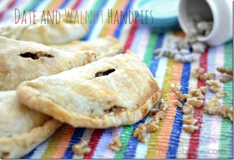 a delicious recipe for date and walnut handpies. plus more great handpie recipes.