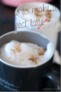 How to make a homemade latte (with free printable)
