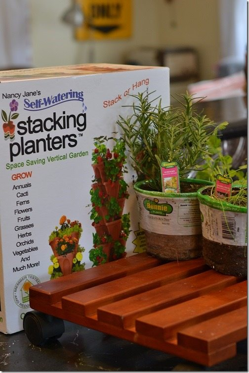 how to make a rolling herb garden #DigIn #herbgarden
