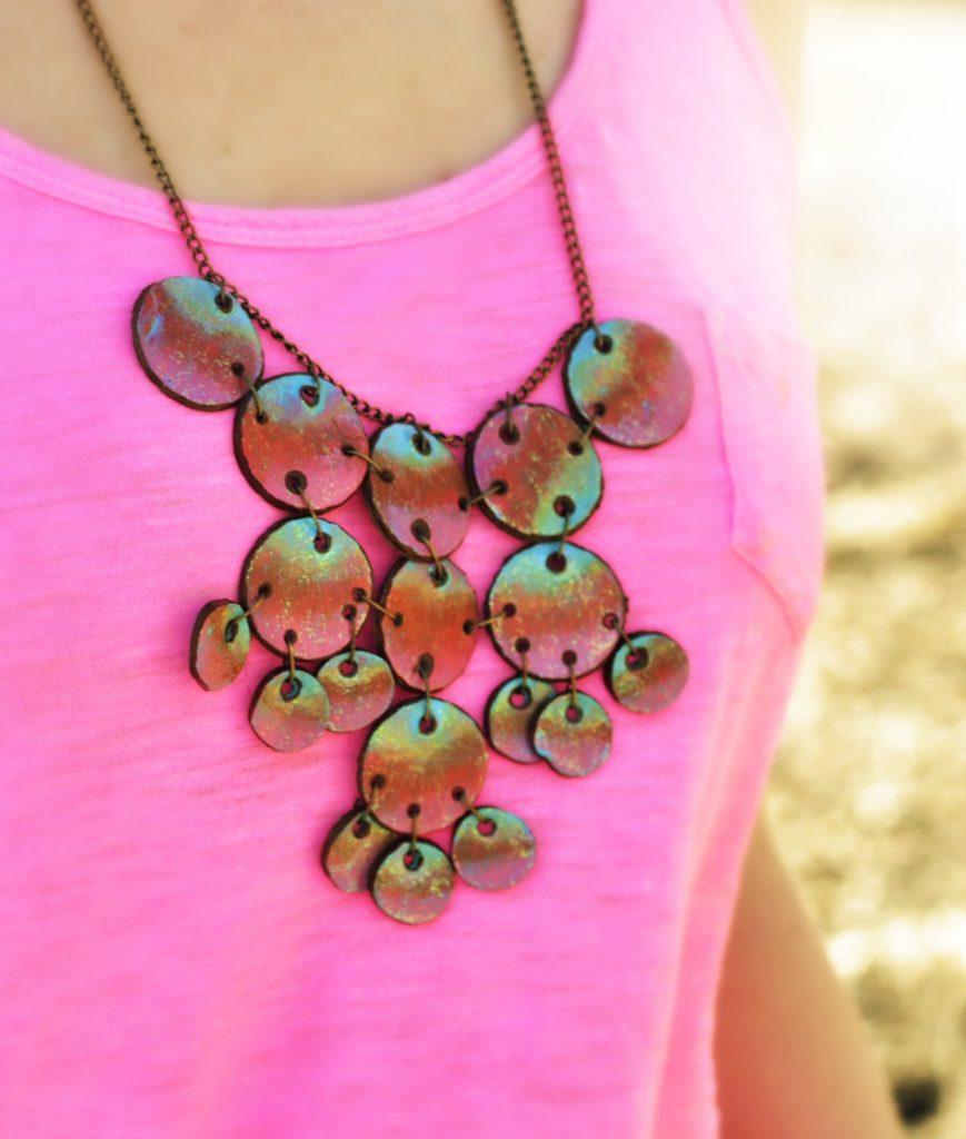 watercolor bubble necklace.