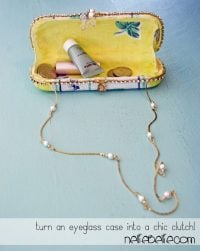 how to make a clutch from an eyeglass case