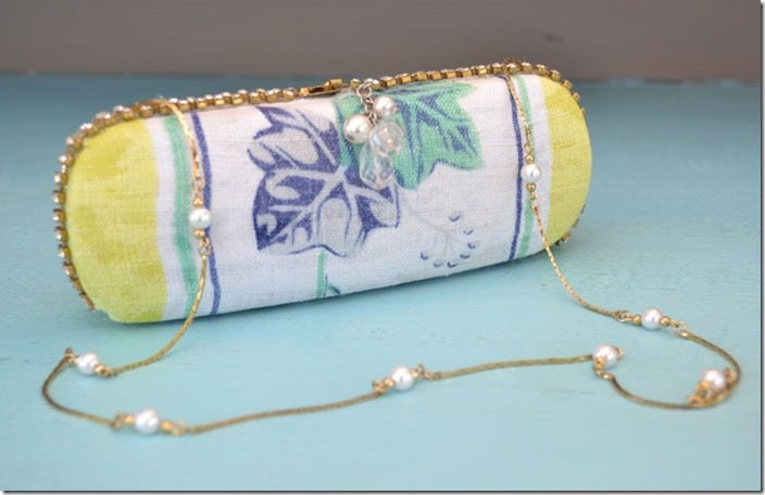 This DIY clutch is a simple craft that repurposes an old eyeglass case into a chic purse. Simple!