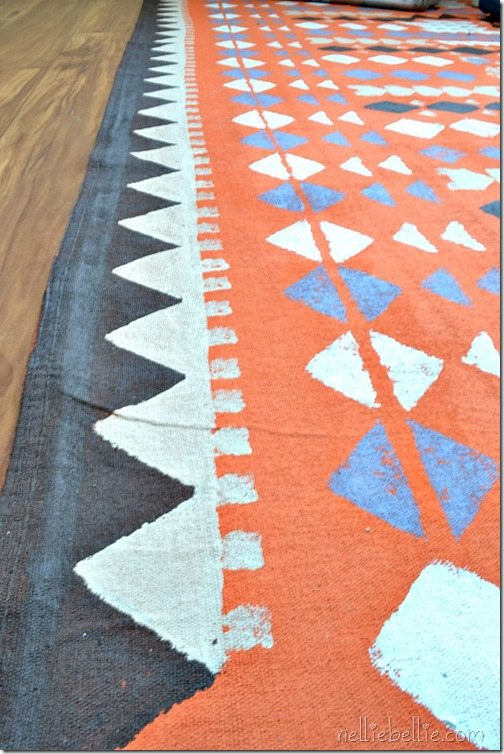 dropcloth rug. Full tutorial.