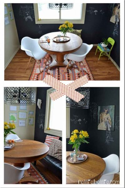 Industrial/Schoolhouse dining room