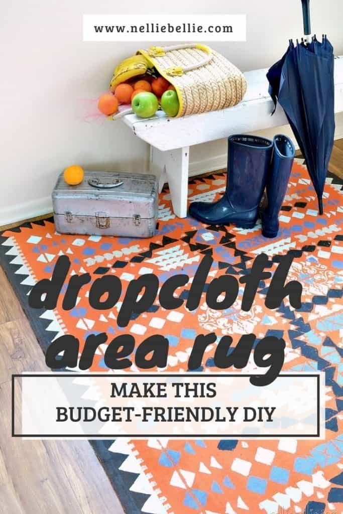 Create a dropcloth rug. Easy to follow tutorial to make this budget-friendly DIY.