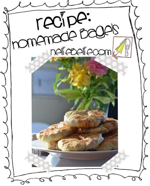 Recipe for homemade bagels...yum!
