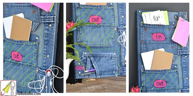 Make it bill organizer from jeans nellie bellie for Percheros para bolsos