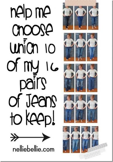 Giggle: 16 pairs of jeans