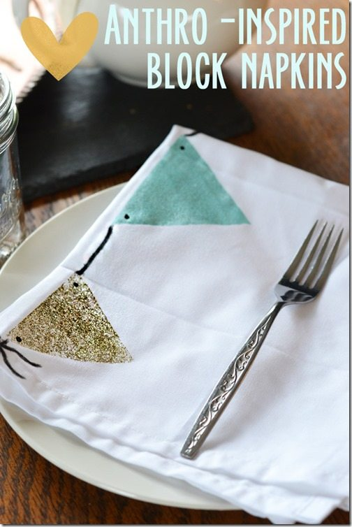 anthro-inspired block napkins. an easy tutorial!