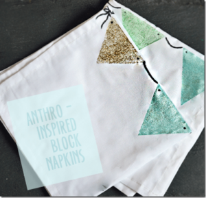 Block napkins, an anthro knock-off from nelliebellie.com