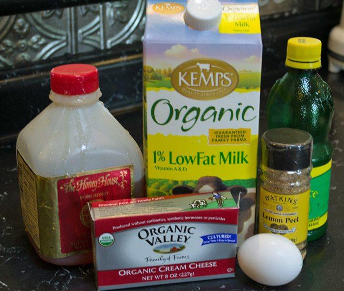 Honey Cheesecake ingredients