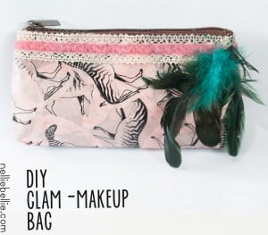 turn a generic make-up bag into a glam make-up bag with this easy tutorial. So simple!