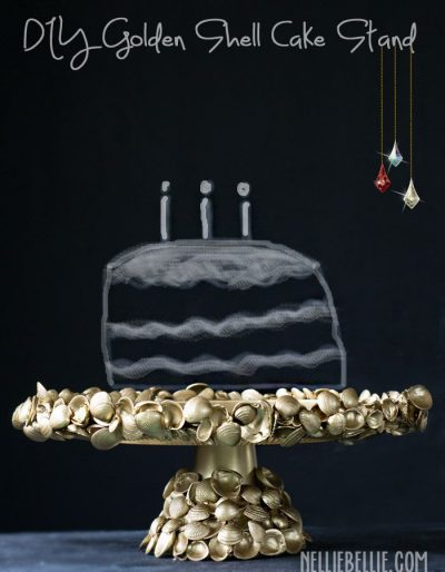 How to make a shell cake stand.
