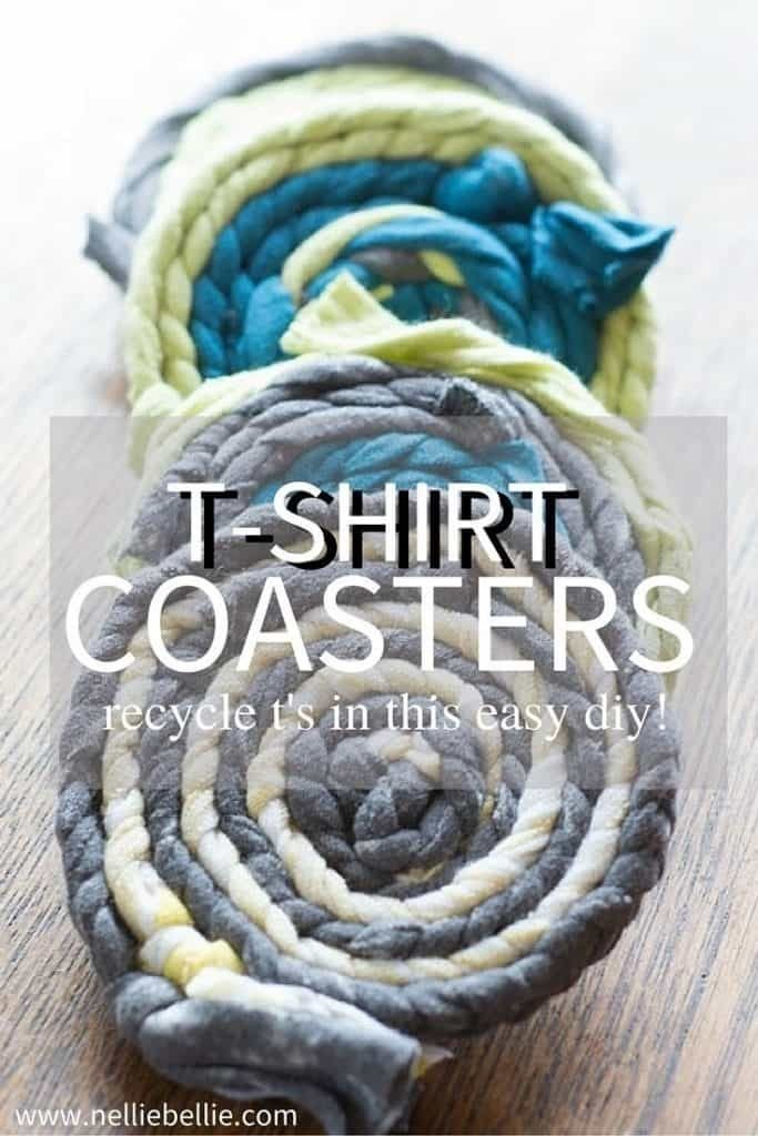 These t-shirt coasters are a great way to recycle your t-shirts! Adorable and easy to make they would make a fantastic Mother's Day gift!